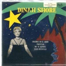 Discos de vinilo: EP DINAH SHORE : CREEMOS EN EL AMOR ( THREE COINS IN THE FOUNTAIN ) . Lote 39495229