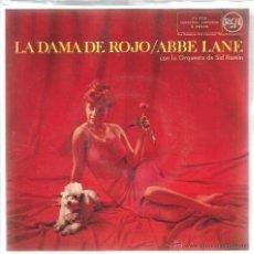 Discos de vinilo: EP ABBE LANE : LA DAMA DE ROJO ( THE LADY IN RED ). Lote 39495298