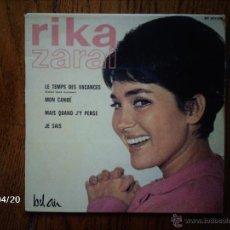 Discos de vinilo: RIKA ZARAI - LE TEMPS DE VACANCES + 3. Lote 39496907