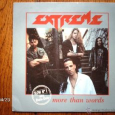 Discos de vinilo: EXTREME - MORE THAN WORDS ( REMIX ) + NICE PLACE TO VISIT. Lote 39514935