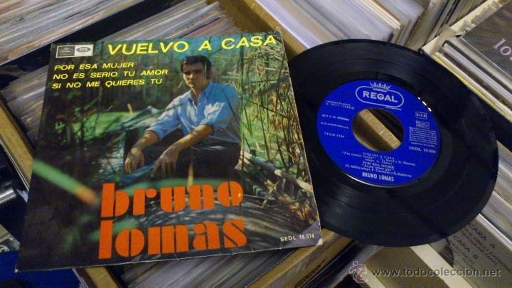 BRUNO LOMAS VUELVO A CASA EP DISCO DE VINILO DE 7 PULGADAS (Música - Discos de Vinilo - EPs - Solistas Españoles de los 50 y 60)