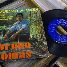 Discos de vinilo: BRUNO LOMAS VUELVO A CASA EP DISCO DE VINILO DE 7 PULGADAS. Lote 39509667