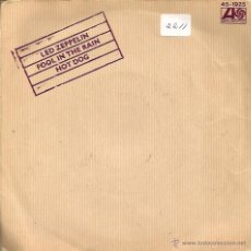 Discos de vinilo: SG LED ZEPPELIN : FOOL IN THE RAIN . Lote 39510455
