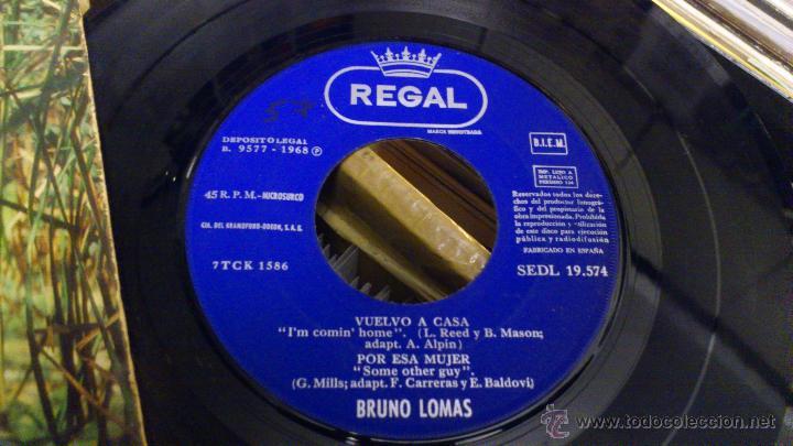 Discos de vinilo: Bruno lomas Vuelvo a casa Ep disco de vinilo de 7 pulgadas - Foto 2 - 39509667