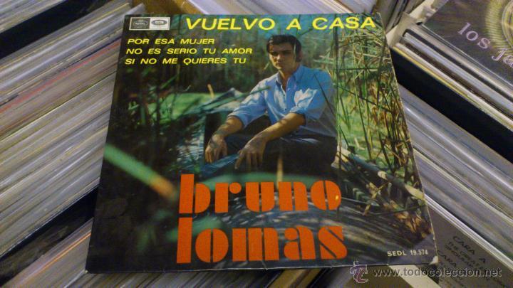 Discos de vinilo: Bruno lomas Vuelvo a casa Ep disco de vinilo de 7 pulgadas - Foto 3 - 39509667