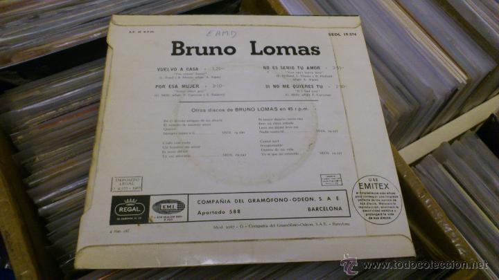 Discos de vinilo: Bruno lomas Vuelvo a casa Ep disco de vinilo de 7 pulgadas - Foto 4 - 39509667