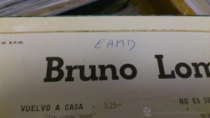 Discos de vinilo: Bruno lomas Vuelvo a casa Ep disco de vinilo de 7 pulgadas - Foto 5 - 39509667