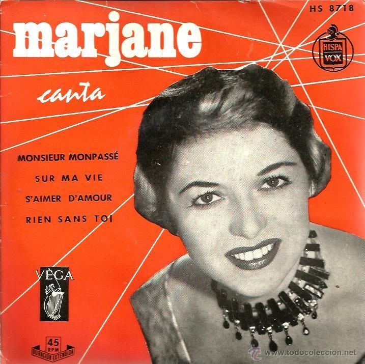 EP MARJANE : MONSIEUR MONPASSE (Música - Discos de Vinilo - EPs - Canción Francesa e Italiana)