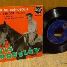 Discos de vinilo: ELVIS PRESLEY LE CAVALLIER DU CREPUSCULE LOVE ME TENDER LET ME RCA FRANCE 86294. Lote 55318839