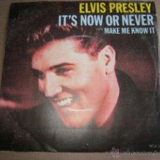 Discos de vinilo: ELVIS PRESLEY - IT'S NOW OR NEVER.. Lote 39557139
