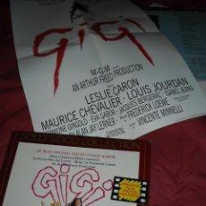 Discos de vinilo: GIGI LP CON POSTER BANDA SONORA ORIGI9NAL LERNER LOEWE HOL. Lote 39557926