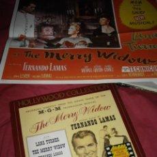 Discos de vinilo: THE MERRY WIDOW LP CON POSTER BANDA SONORA TURNER-LAMAS-LEHAR. Lote 39557950