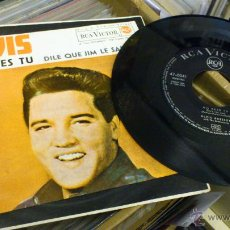 Discos de vinilo: ELVIS PRESLEY NO ERES TU DILE QUE JIM LE SALUDA EP VINILO DE 7 PULGADAS MUY RARO! RCA 1962. Lote 39562032