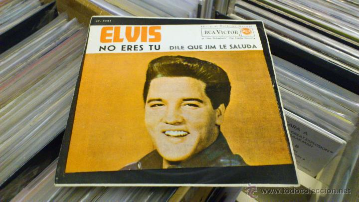 Discos de vinilo: Elvis presley No eres tu dile que jim le saluda Ep Vinilo de 7 pulgadas Muy raro! RCA 1962 - Foto 2 - 39562032