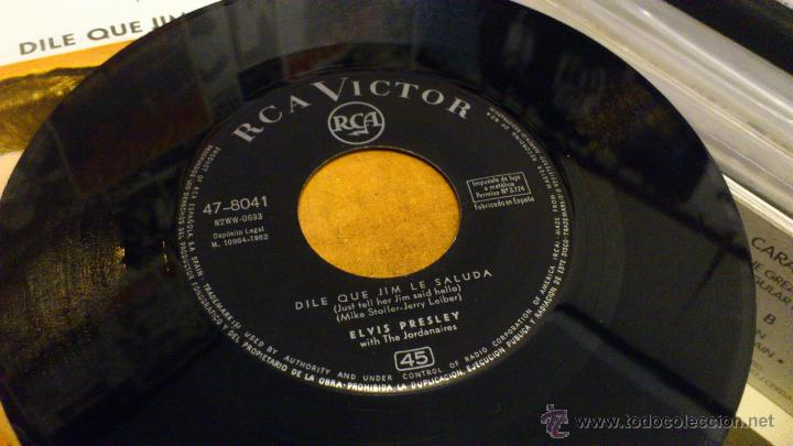 Discos de vinilo: Elvis presley No eres tu dile que jim le saluda Ep Vinilo de 7 pulgadas Muy raro! RCA 1962 - Foto 4 - 39562032