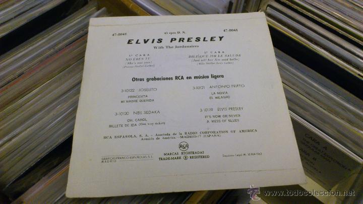 Discos de vinilo: Elvis presley No eres tu dile que jim le saluda Ep Vinilo de 7 pulgadas Muy raro! RCA 1962 - Foto 5 - 39562032