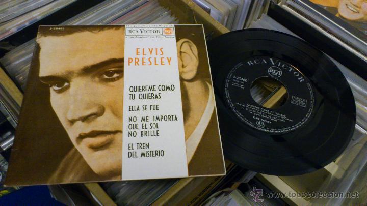 ELVIS PRESLEY QUIEREME COMO TU QUIERAS EP DISCO DE VINILO DE 7 PULGADAS RARO! RCA 1962 (Música - Discos de Vinilo - EPs - Rock & Roll)