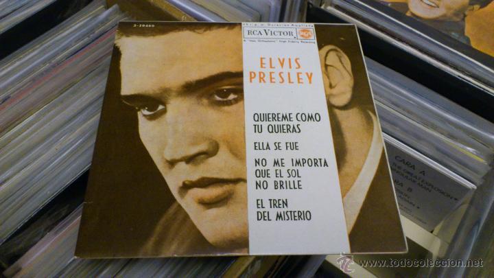 Discos de vinilo: Elvis presley Quiereme como tu quieras Ep disco de vinilo de 7 pulgadas Raro! RCA 1962 - Foto 2 - 39562068
