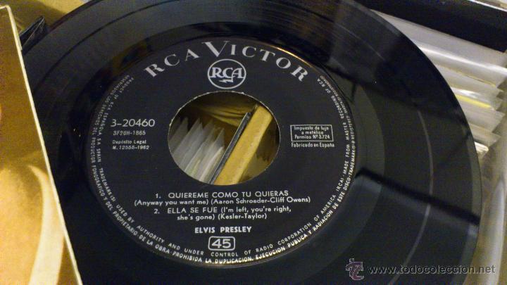 Discos de vinilo: Elvis presley Quiereme como tu quieras Ep disco de vinilo de 7 pulgadas Raro! RCA 1962 - Foto 4 - 39562068