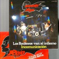 Discos de vinilo: 2 SINGLES DE BARON ROJO : RESISTIRE+ LOS ROCKEROS VAN AL INFIERNO (PROMO). Lote 39564394