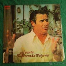 Discos de vinilo: ASI CANTA EL PERRO DE PATERNA. RCA. 9 CANCIONES. Lote 39866664