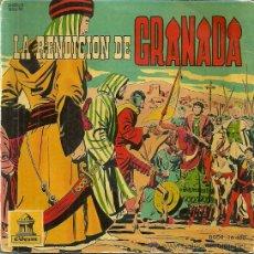 Discos de vinilo: LA RENDICION DE GRANADA EP SELLO ODEON AÑO 1960 (VINILO ROJO) CON 5 PAGINAS DE COMICS. Lote 39579387