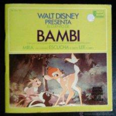 Discos de vinilo: BAMBI, WALT DISNEY - SINGLE CON LIBRO. Lote 39598156