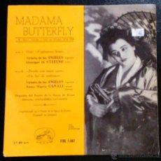 Discos de vinilo: MADAMA BUTTERFLY - VICTORIA DE LOS ÁNGELES, SOPRANO; GIUSEPPE DI STEFANO, TENOR - EP. Lote 39599835