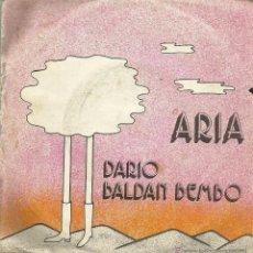 Discos de vinilo: UXV DARIO BALDAN BEMBO SINGLE ITALIANO 1975 ARIA NICO PRIMER SINGLE EXITO POPLANDIA P 30587. Lote 39601506