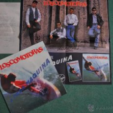Discos de vinilo: LOS COMOTORAS - A TODA MAQUINA - LP + POSTER FIRMADO + HOJA PROMO. Lote 39612327