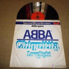 Discos de vinilo: ABBA CHIQUITITA / LOVELIGHT MAXI SINGLE MAXI SINGLE DE VINILO DEL AÑO 1979 AGNETHA FALTSKOG FRIDA. Lote 47096425