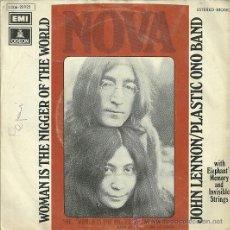 Discos de vinilo: JOHN LENNON / PLASTIC ONO BAND SINGLE SELLO EMI-ODEON AÑO 1972. Lote 39635471