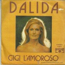 Discos de vinilo: DALIDA CANTA EN ESPAÑOL SINGLE SELLO POPLANDIA AÑO 1974. Lote 39635757
