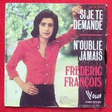 Disques de vinyle: FREDERIC FRANCOIS - 1974. Lote 39656783