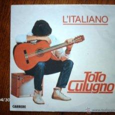 Discos de vinilo: TOTO CULUGNO - L´ITALIANO + SARA. Lote 39661629