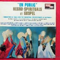 Discos de vinilo: NEGRO-SPIRITUALS ET GOSPEL. Lote 39859224