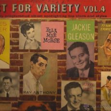 Discos de vinilo: LP-JUST FOR VARIETY VOL. 4 CAPITOL 947-ESPAÑA 1958-ELLA MAE MORSE ERNIE FORD RAY ANTHONY. Lote 39664543