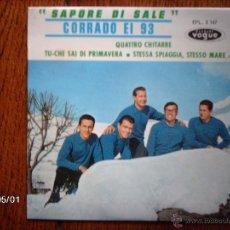 Discos de vinilo: CORRADO EI 93 - SAPORE DI SALE + 3. Lote 39683844