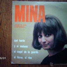 Discos de vinilo: MINA - CANTA EN ESPAÑOL - EL ANGEL DE LA GUARDA + 3. Lote 39683975