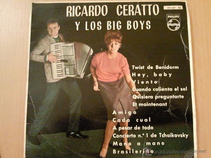 RICARDO CERATTO Y LOS BIG BOYS TWIST EN BENIDORM EP PHILIPS VINILO AZUL (Música - Discos de Vinilo - EPs - Grupos Españoles 50 y 60)
