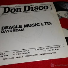 Discos de vinilo: BEAGLE MUSIC LTD. DAYDREAM 7 SINGLE 1987 DON DISCO PROMO UNA CARA DANCE ITALO. Lote 39669912