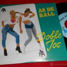 Discos de vinilo: AS DE BALL DOBLE JOC. MIX CANCIONES DE BAILE 7 SINGLE 1992 PERFIL PROMO EXCELENTE ESTADO CATALA. Lote 39671206