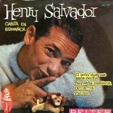 Discos de vinilo: EP HENRY SALVADOR CANTA EN ESPAÑOL : EL LEON DUERME ESTA NOCHE . Lote 39673427
