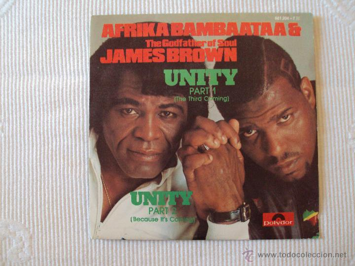 Discos de vinilo: AFRIKA BAMBAATAA & JAMES BROWN, UNITY (POLYDOR, 1984) SINGLE SPAIN GODFATHER SOUL - Foto 1 - 39673835