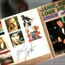 Discos de vinilo: BRUCE SPRINGSTEEN : RARO SINGLE CON DOBLE CUBIERTA Y POSTALES . Lote 39674565