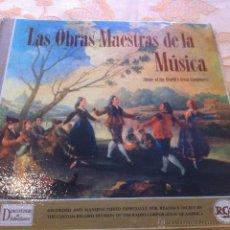 Discos de vinilo: LAS OBRAS MAESTRAS DE LA MUSICA 12 DISCOS DE LOS GRANDES MAESTROS. Lote 39676174