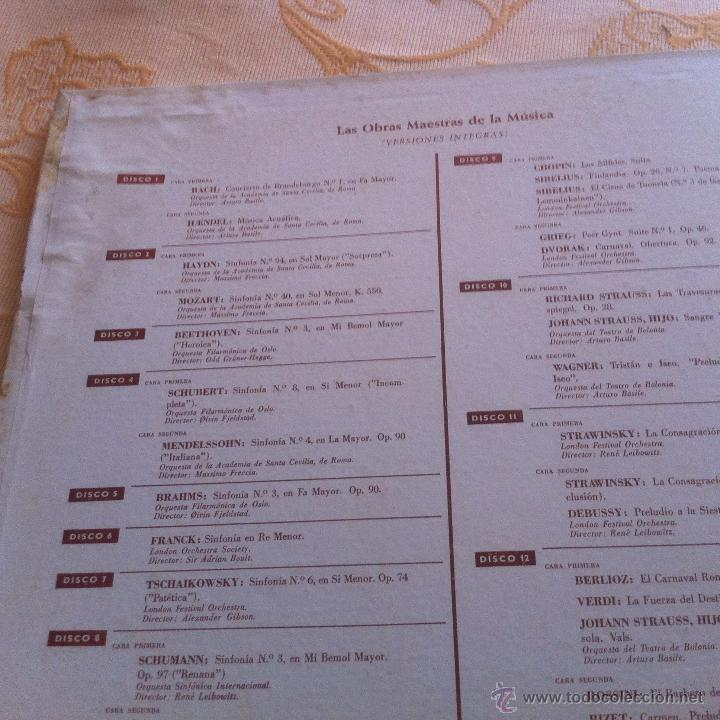 Discos de vinilo: LAS OBRAS MAESTRAS DE LA MUSICA 12 DISCOS DE LOS GRANDES MAESTROS - Foto 2 - 39676174