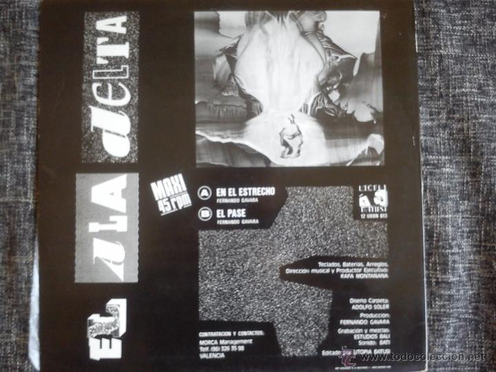 Discos de vinilo: EL ALA DELTA..EN EL ESTRECHO.MAXI 1989.UTOPIA BATUSI.VALENCIA.SEGURIDAD SOCIAL. - Foto 2 - 39676399