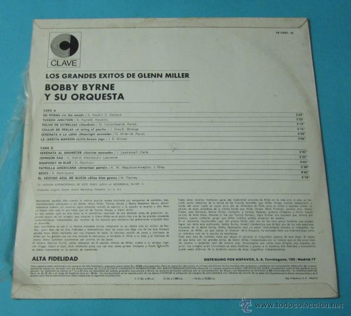 Discos de vinilo: LOS GRANDES ÉXITOS DE GLENN MILLER. BOBBY BYRNE Y SU ORQUESTA - Foto 2 - 39680937