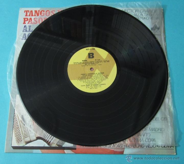 Discos de vinilo: TANGOS Y PASODOBLES AL ACORDEÓN. HECTOR GRANDE Y SU ACORDEÓN Y SU ORQUESTA - Foto 3 - 39680954